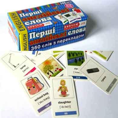 Першi англiйськi слова 360 карток 20 тем